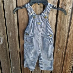 Vintage USA OshKosh Overalls Boys Striped 18 M